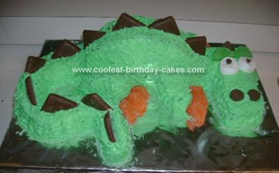 Surprising Easy Homemade 3D Dragon Birthday Cake Funny Birthday Cards Online Alyptdamsfinfo