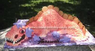 Homemade Dragon Birthday Cake