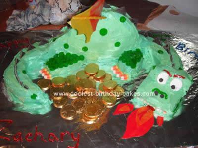 Enjoyable Cool Homemade Fire Spitting Dragon Birthday Cake Funny Birthday Cards Online Alyptdamsfinfo