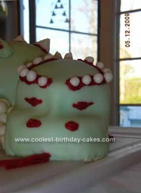 Homemade Dragon Birthday Cake Design