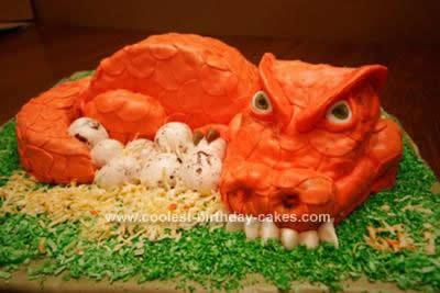 Cool Ominous Red Dragon Birthday Cake Design Funny Birthday Cards Online Alyptdamsfinfo