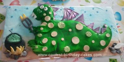 Homemade Dragon Cake