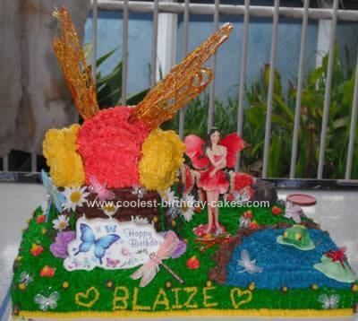 Homemade Dragonfly Birthday Cake