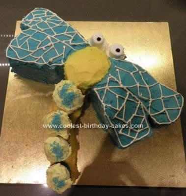 Homemade Dragonfly Cake