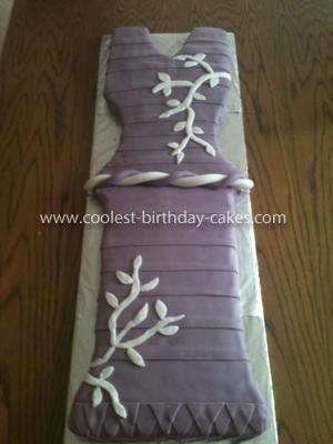 Homemade Dress Fashion Cake
