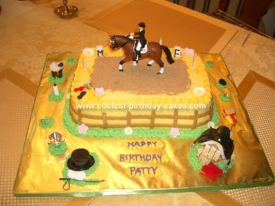 Swell Coolest Dressage Horse Birthday Cake Funny Birthday Cards Online Alyptdamsfinfo