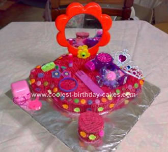 Homemade Dressing Table Cake Design