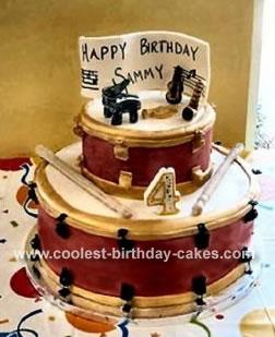 Awesome Homemade 2 Tier Drum Cake