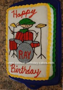 Homemade Drummer Cake