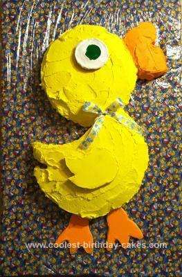 Homemade Duckie Birthday Cake