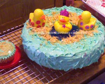 Homemade Duckies Birthday Cake