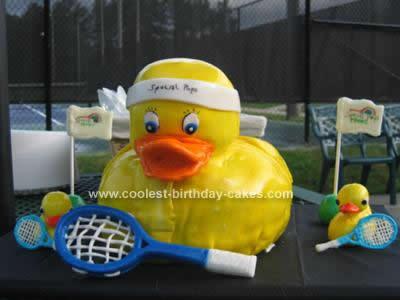 Homemade Duck/Tennis Cake