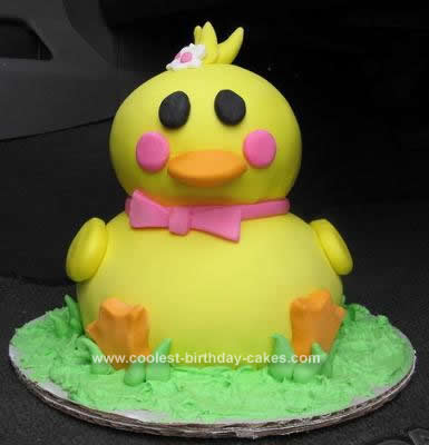 Homemade Ducky Birthday Cake