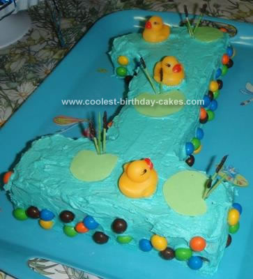 Homemade Ducky Pond Cake