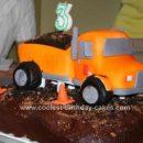 Homemade  Dump Truck Cake