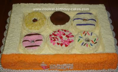 Superb Cool Homemade Dunkin Donuts Cake Personalised Birthday Cards Paralily Jamesorg