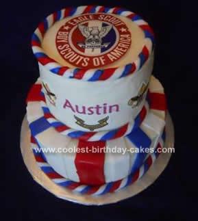 Homemade Eagle Scout Cake