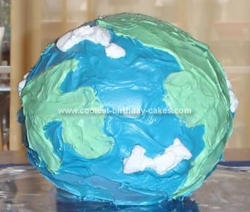 Homemade Earth Day Cake