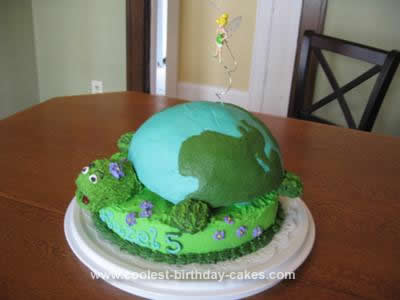 Homemade Earth Turtle Fairy Birthday Cake