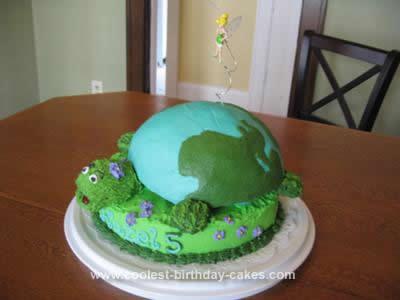 Homemade Earth Turtle Fairy Birthday Cake