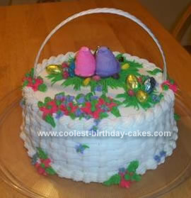 Homemade Easter Basket Cake