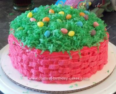 Homemade Easter Basket Cake