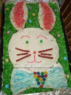 Homemade Easter Bunny Cake