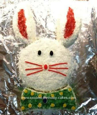 Homemade Easter Bunny Cake
