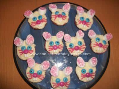 Homemade  Easter Bunny Cupcakes