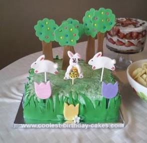 Homemade Easter Cake