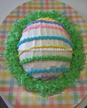 Homemade Easter Egg Cake