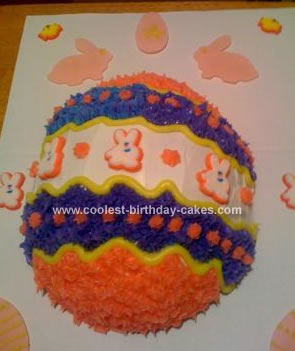 Homemade Easter Egg Cake