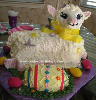 Homemade Easter Egg Lamb Cake