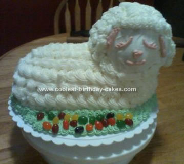 Homemade Easter Lamb Cake