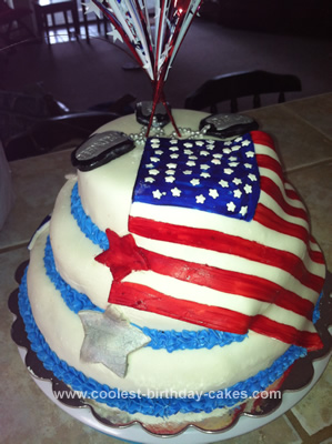 Homemade Edible Monument Memorial Day Cake