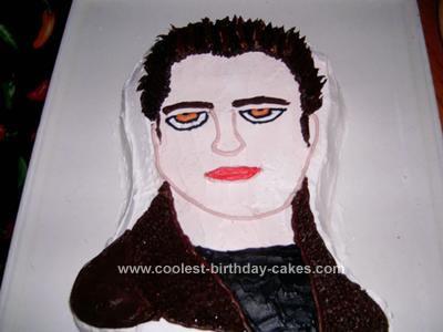 Homemade Edward Cullen Cake