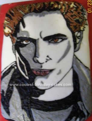 Homemade Edward Cullen from Twilight Birthday Cake
