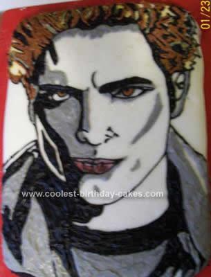 Homemade Edward Cullen from Twilight Birthday Cake
