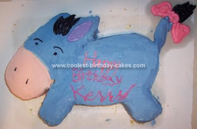 Homemade Eeyore Birthday Cake