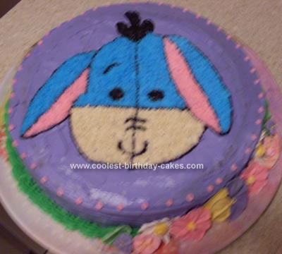 Awesome Easy Homemade Eeyore Birthday Cake Funny Birthday Cards Online Inifofree Goldxyz