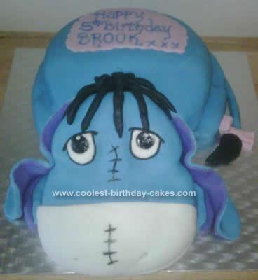 Homemade Eeyore Birthday Cake Design