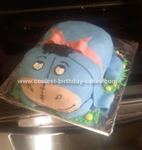 Prime Cool Homemade 3D Eeyore Birthday Cake Design Funny Birthday Cards Online Inifofree Goldxyz