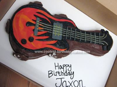 Superb Coolest Electric Guitar Birthday Cake Funny Birthday Cards Online Alyptdamsfinfo