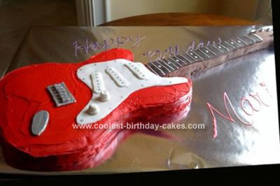 Fine Cool Homemade Electric Guitar Cake For Rock Diva Party Funny Birthday Cards Online Elaedamsfinfo