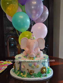 Surprising Coolest Elephant Birthday Cake Funny Birthday Cards Online Eattedamsfinfo