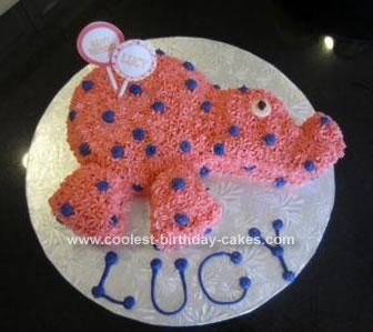 Homemade Elephant Birthday Cake