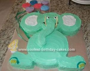 Terrific Coolest Homemade Elephant Cakes Funny Birthday Cards Online Overcheapnameinfo