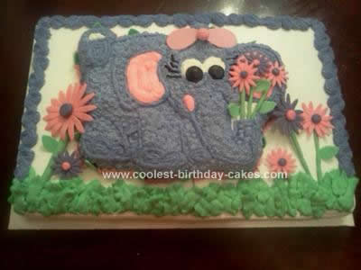 Homemade Elephant Cake