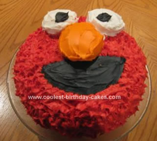 My 2 Year Old LOVES Elmo I Swear It Was One Of His First Words So A Homemade Birthday Cake No Brainer However Couldnt Justify Spending