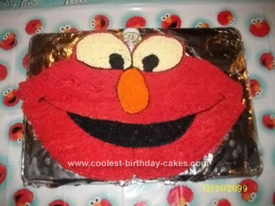 Marvelous Cute Homemade Elmo Birthday Cake Idea Funny Birthday Cards Online Sheoxdamsfinfo